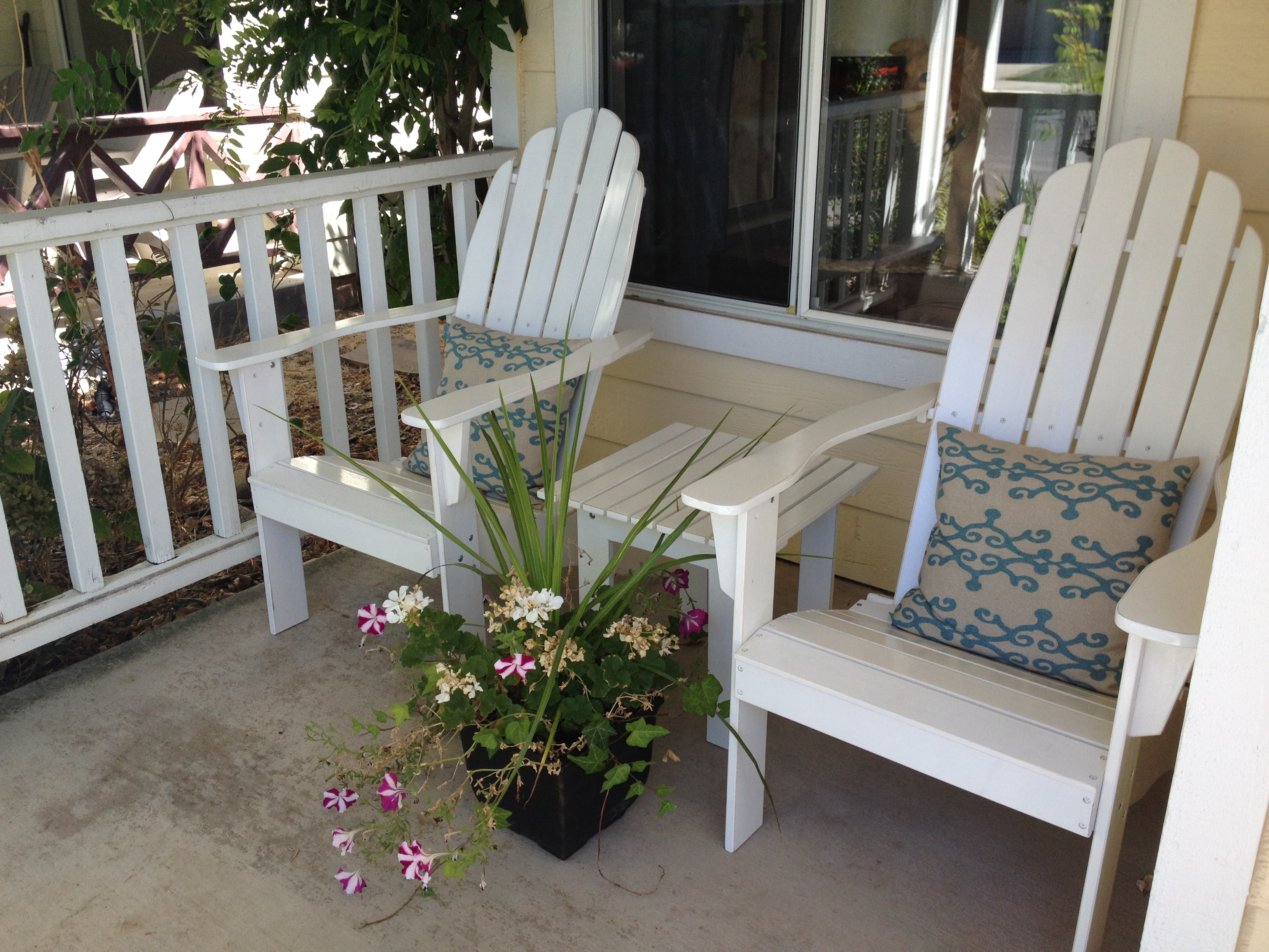 This year my wife bought some Adirondack chairs for our front porch…